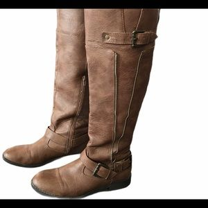 Brown Justfab dress boots size 9